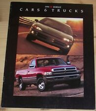 Prospekt Dodge Programm 1994 USA Intrepid Caravan Viper Stealth Spirit Shadow