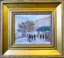 Michel Lensky, rue de Montmartre, 2nd moitié du XXe, huile sur toile