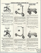 1956 PAPER AD Greyhound Coaster Wagon Stake Radio Rancher BMC Pedal Car Station