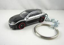2011 2012 SUBARU WRX STI Silver & Black Sports Car Key FOB Keychain Keyring