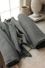 Vintage linen dyed indigo blue 21.3 YDS homespun European hemp upholstery fabric