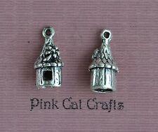 5 x PIXIE FAIRY ROUND HOUSE 3D Tibetan Silver Charms Pendants Beads