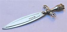 More details for no reserve hm 1910 sterling silver sword design bookmark vintage antique
