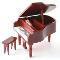 12th Scale Grand Piano and Stool for Dolls House DF106