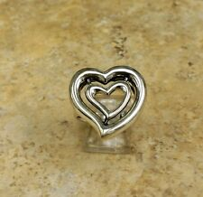 BARRY KIESELSTEIN CORD DOUBLE HEART RING SIZE 8 STERLING SILVER QVC SOLDOUT
