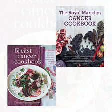 Breast Cancer Cookbook and Royal Marsden Cancer Cookbook 2 Books Set Pack NEW HD