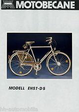 Pressefoto photo MOTOBECANE Ehst-d5 vélo 1984 press photo de presse Bicycle