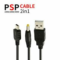 PSP Data Charger Cable for Playstation Portable Transfer Cord Power Supply Slim