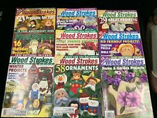 Wood Strokes & Woodcrafts, Lot Of 9 Magazines, 2002-2004, Patterns Included