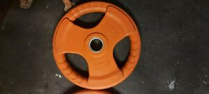 """20KG Red 2"""" Tri-Grip Rubber Coated Olympic Weight Plate"""