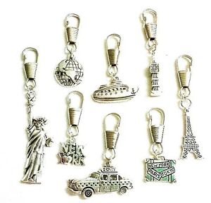 Travel zippers~Holiday charms~holiday Rep zipper~travel clasp~Statue of liberty