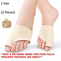 Bunion Toe Protector Gel Corrector Straightener Pad Valgus Hallux Fabric 2 Splin