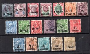 British Levant (Turkey) QV-KGV fine used collection WS20986