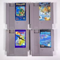 Nintendo NES Game Lot Of 4 Commando Sky Shark Stealth Silent Service Working