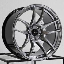 17x9 Vors TR4 5x114.3 30 Hyper Black Wheels Rims Set(4) 73.1