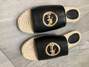 Womens black coach slippers brand new in box size 11.5