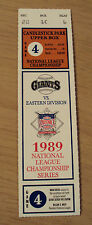 """1989 Ticket Stub~""""NATIONAL LEAGUE CHAMPIONSHIP SERIES""""~SF Giants vs Chicago Cubs"""