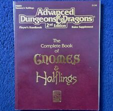2134 el Libro Completo De Gnomos &! medianos Advanced Dungeons & Dragons D&D RPG