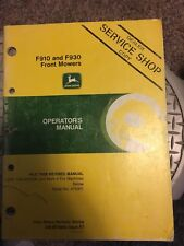 John Deere F910 F930 Front Mower Operator's Manual - Serial No. 475001 Below