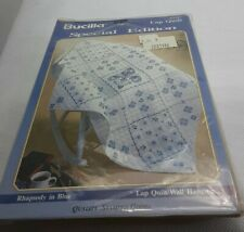 Bucilla Special Edition Stamped Lap Quilt 63347. Never Opened Rhapsody In Blue