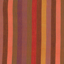 Kaffe Fassett Broad Stripe Red Woven Cotton Fabric By The Yard
