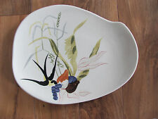 Red Wing Capistrano Bird/Swallows- 13' Oval Serving Platter