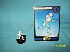 WotC Star Wars Miniatures Stormtrooper, Rebel Storm 38/60, Empire, Com w/Error