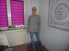 Pullover mit Carmenausschnitt von H&M neu mit Etikett.grau Gr.M!