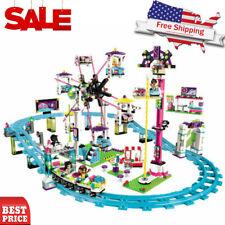 1136PCS Friends Amusement Park Roller Coaster Building Blocks Figures Model New