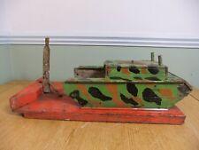 More details for vintage fairground target shooting gallery 1950's - tank