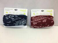 Capelli New York Light Weight Jersey Fabric Multi Wear Head Wrap, Blue Bandana