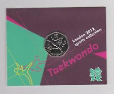Taekwondo-Raro 50p Olympic London 2012 Fifty moneda peniques universal en la carpeta