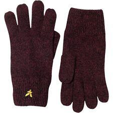 Lyle /& Scott Mouline Black Everyday Gloves for Men Woollen Blend Wrist Length