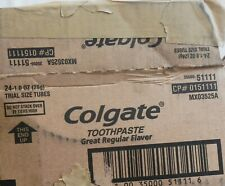 """Colgate 0151111 """"As Is"""" Trial Size Toothpaste Regular Flavor QTY 21"""