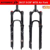 "KRSEC 26/27.5/29""  MTB Bike Air Shock Suspension Fork 1-1/8 Ultralight Aluminum"