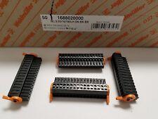 NEW BOX OF 50 WEIDMULLER 1688020000 10A 28-14G  TERMINAL BLOCKS