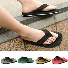 Men Casual Sandals Flip Flops Beach Sandals Anti-slip Summer Simple Flat Slipper