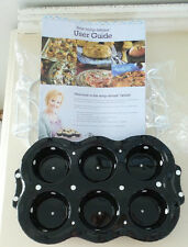 Temp-tations MUFFIN CUP CAKE  Pan 6 Tray Cups POLKA DOTS BLACK WHITE + TRAY New