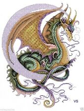 "Design Works Counted Cross Stitch kit 11"" x 15"" ~ CELESTIAL DRAGON Sale #2717"