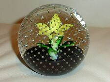 CAITHNESS PAPERWEIGHT FLOWER IN THE RAIN, SCOTLAND