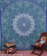 Handmade Tapestry Hippie Wall Hanging Blue Mandala Bedspread USA SELLER TP007