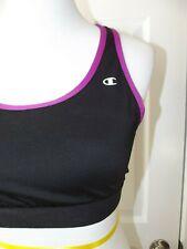 Champion Sports Bra - Womens Size Xl - Black with Purple Trim - Support Athletic