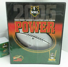 2005 NRL Power Trading Cards Base Set (181)+ Official Album + 21 Pages