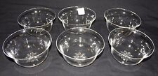 "HAWKES BOWLS WITH A STAR BURST BOTTOM~ALL SIGNED SET OF SIX (6)~2 3/8"" X 4 7/8"""