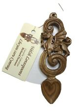 DRAGON AND SCROLL design wooden WELSH LOVE SPOON,  Wales / Cymru