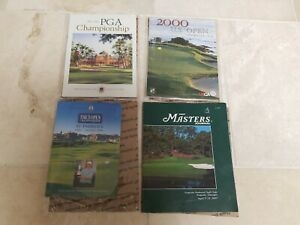 2000 US Open Golf program Tiger Woods Pebble Beach all 4 programs in great cond.