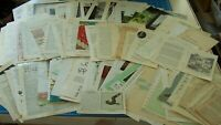 BOOK PAGES Antique paper old Vintage Ephemera for Journal 85 pgs ALL DIFFERENT!