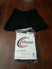 Chasse Cheer Boy Cut Brief Black Adult Small Cheerleading Br200M Mro S
