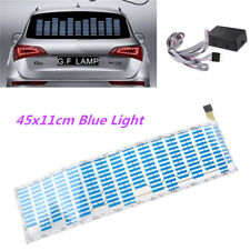 Car Blue Sticker Music Rhythm LED Flash Light Sound Activated Equalizer 11x45 cm