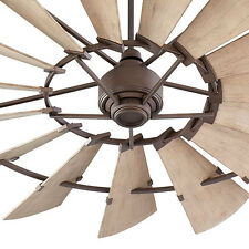 "Quorum Windmill Ceiling Fan 197215-86 Indoor/Outdoor 72"" Oiled Bronze Damp Rated"